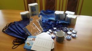 W skład nagrody wchodzą wybrane gadżety od MPWiK Sp. z o. o.
